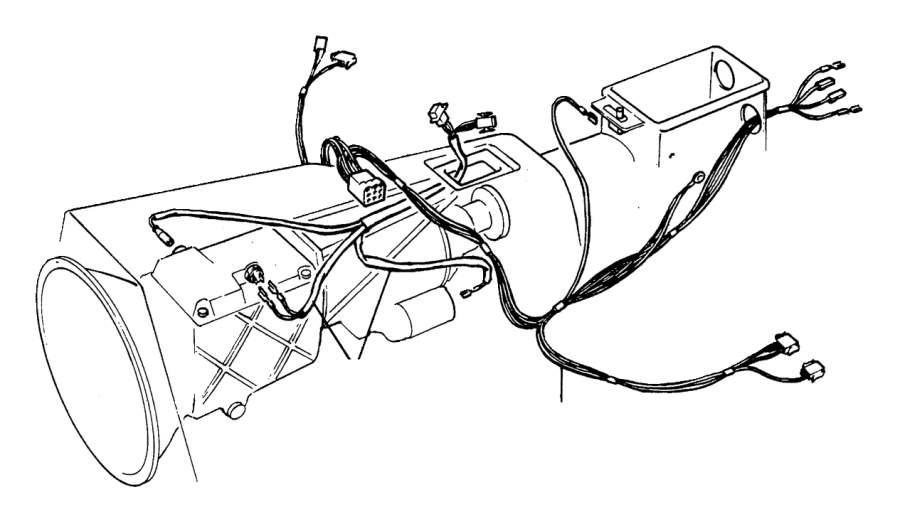 Volvo 780 Wiring harness. Genuine Classic Part. Tunnel