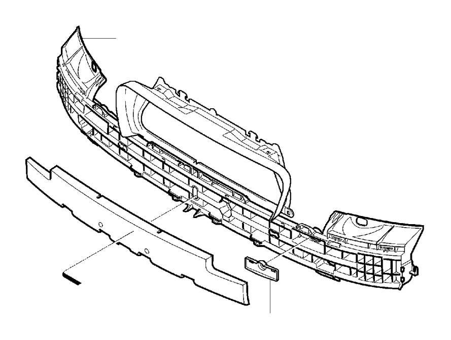 2003 Volvo V70 XC Bumper Cover Reinforcement Beam Bolt