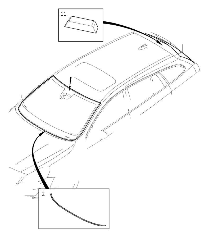 Volvo S60 Windshield. Windscreen, Window, Sealing