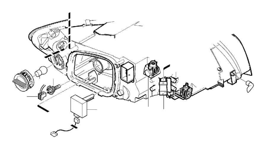 2010 Volvo C30 Headlight Wiring Harness. CONNECTOR