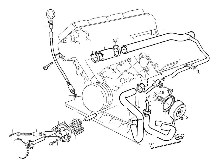 Volvo 760 Hose. Genuine Classic Part. System, Lubricating