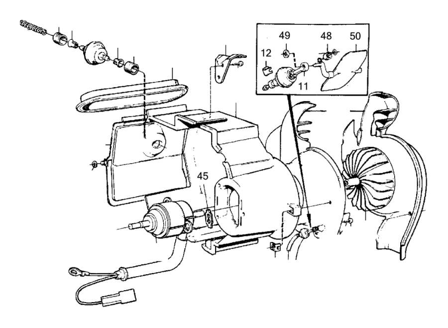 1992 Volvo 240 Bracket, right. Unit, Heater, COMBU