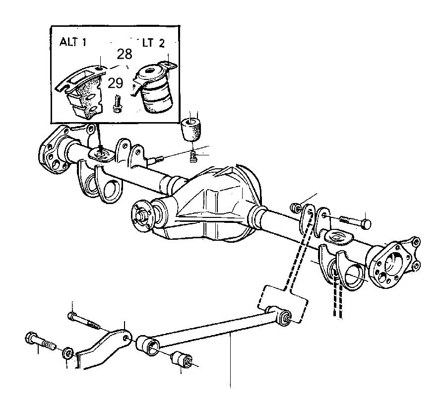 1992 Volvo 240 Bushing. Suspension, Rear, Torque, Steering