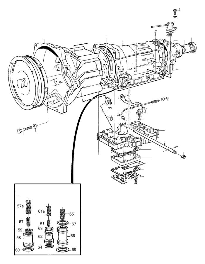 1981 Volvo Screw. Automatic, Transmission, Gearbox
