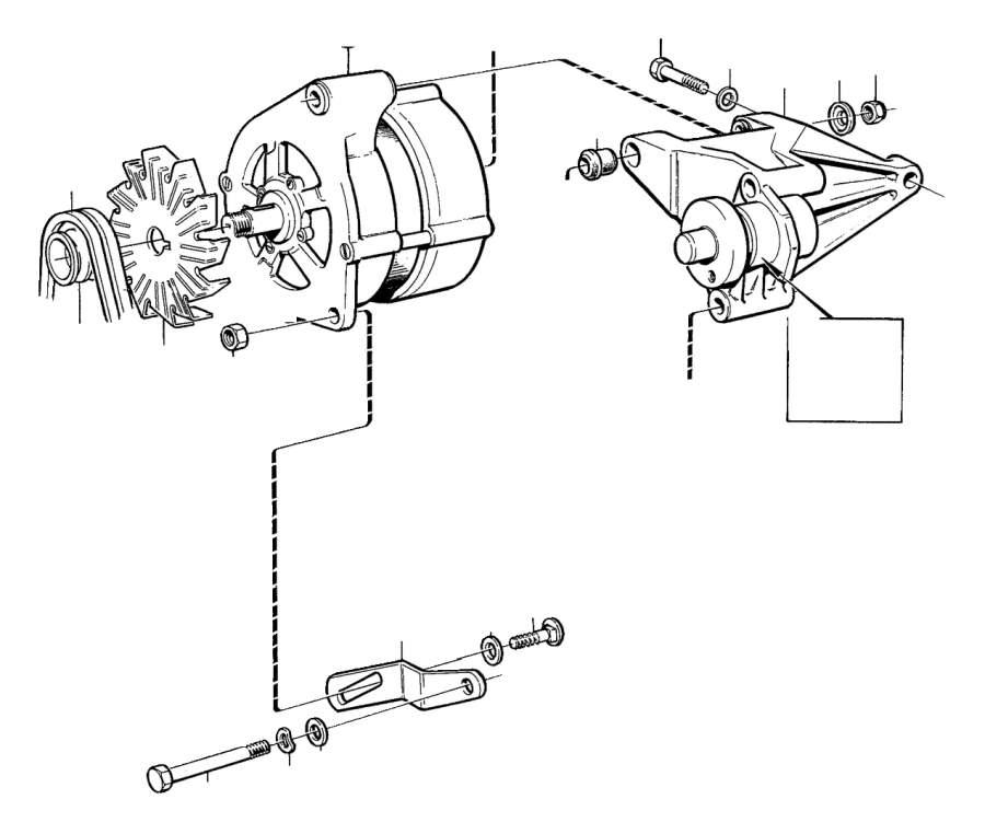 1991 Volvo 940 SE Fan. Alternator, Generator, BOSCH