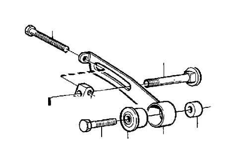 1991 Volvo 240 Striker Plate. Alternator. B19, B23. B200
