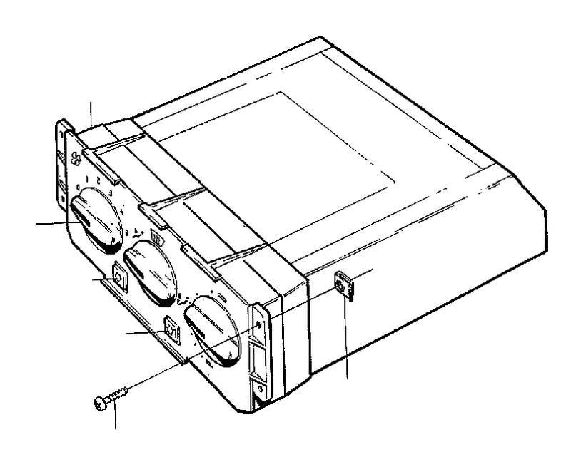 1998 Volvo V90 Switch. COMBU. Heater Controls. Heater