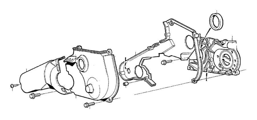 1987 Volvo 240 Engine Crankshaft Seal. SEALING RING