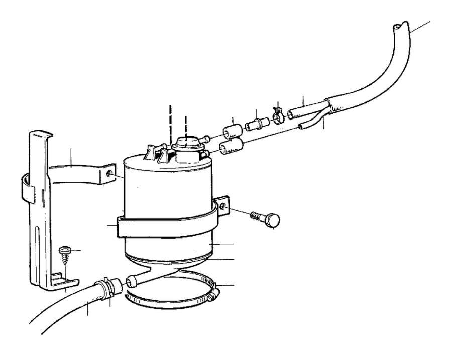 Volvo V70 Evaporative Emissions System Lines. HOSE