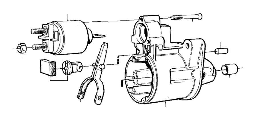2005 Volvo XC90 Actuator solenoid. Motor, Starter, Harm