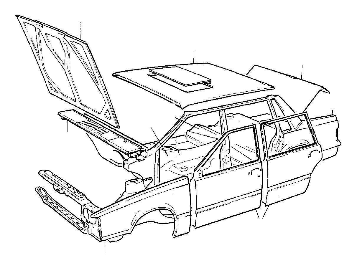 Volvo 740 Body Enamelled Finish Only Latest