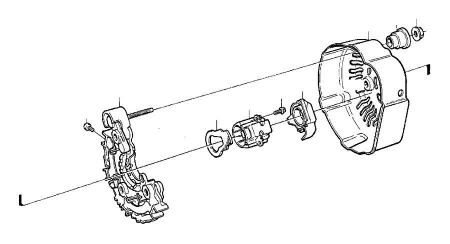 2000 Volvo S40 Cover. Alternator. Generator (ac