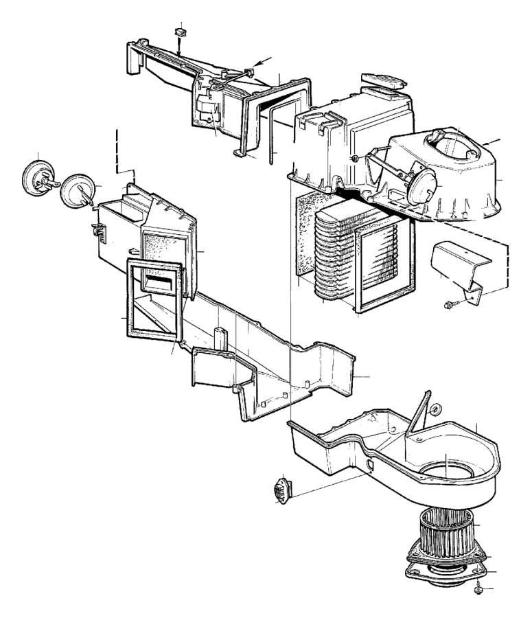 1989 Volvo 760 Hvac blower motor. Fan motor kit. Fan motor