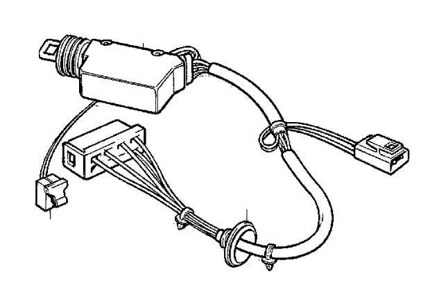 Volvo 850 Door Lock Actuator Motor (Left, Rear). MOTOR