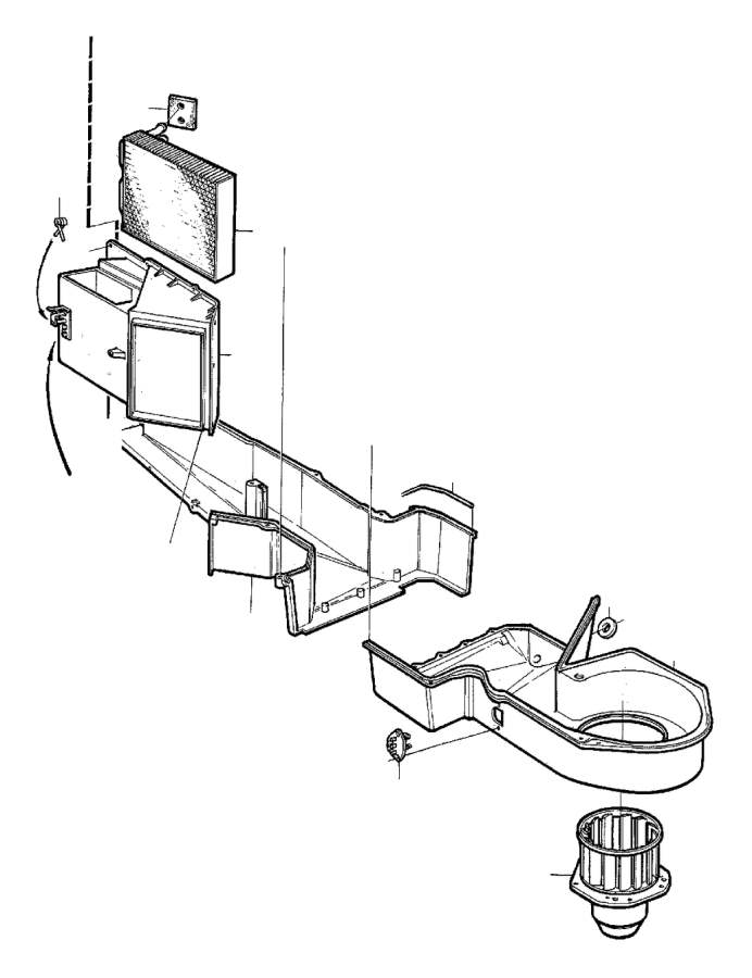 1987 Volvo 760 Air Distributor. COMBU. Heater Unit. L.H.D