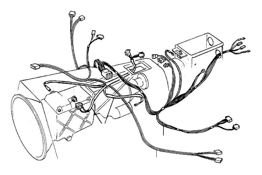 Volvo 780 Wiring Harness. Cable Harness Gearbox Tunnel