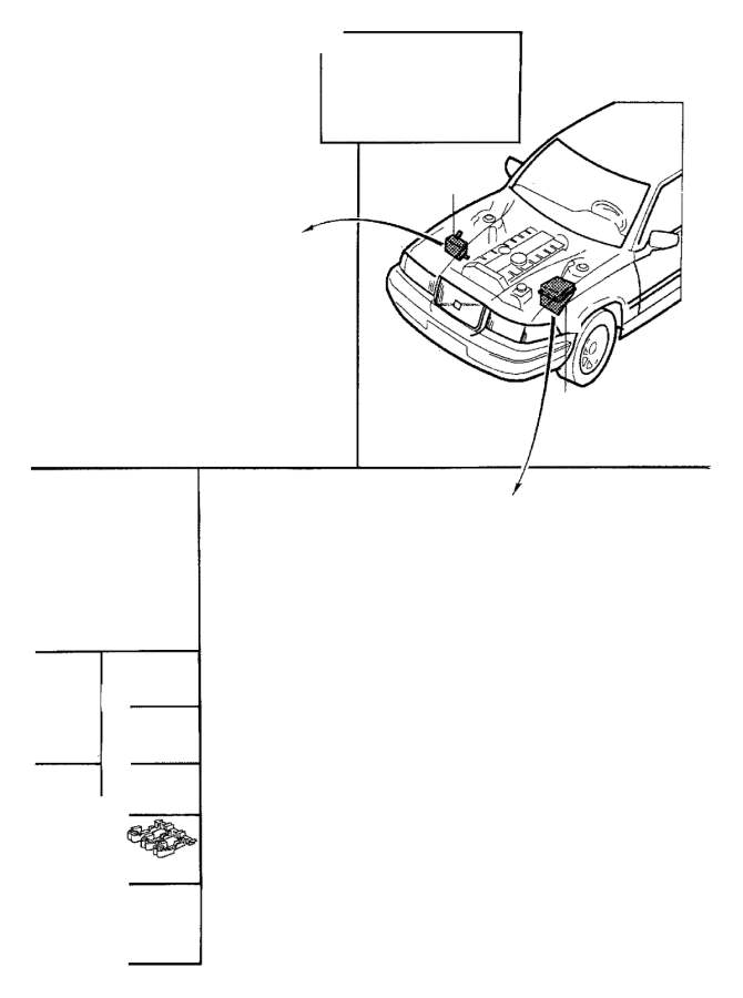 1998 Volvo V90 Fuse and Relay Center Base (Rear