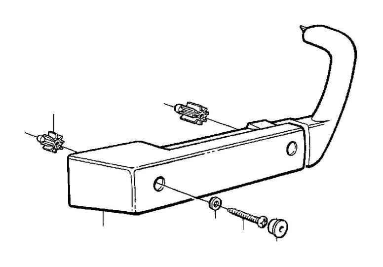 1984 Volvo 240 Cross recessed screw. Door, Armrest, Panel