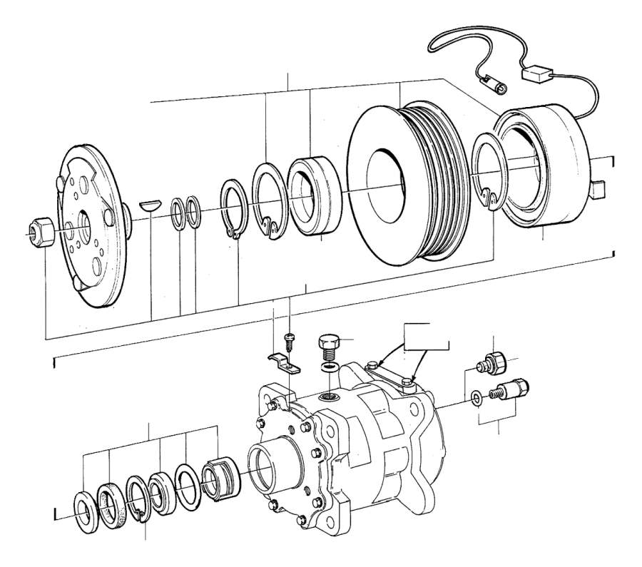 1998 Volvo V90 Sealing Kit. B6304 R134A. Compressor