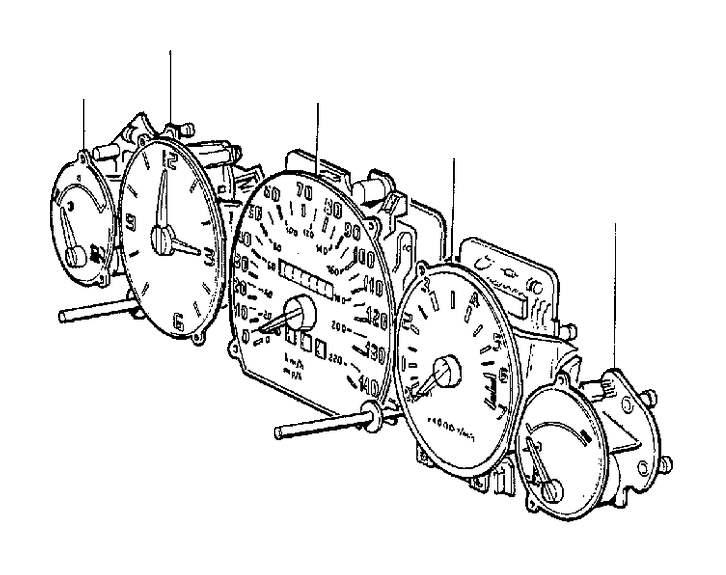1998 Volvo V90 Tachometer. Combination Instrument