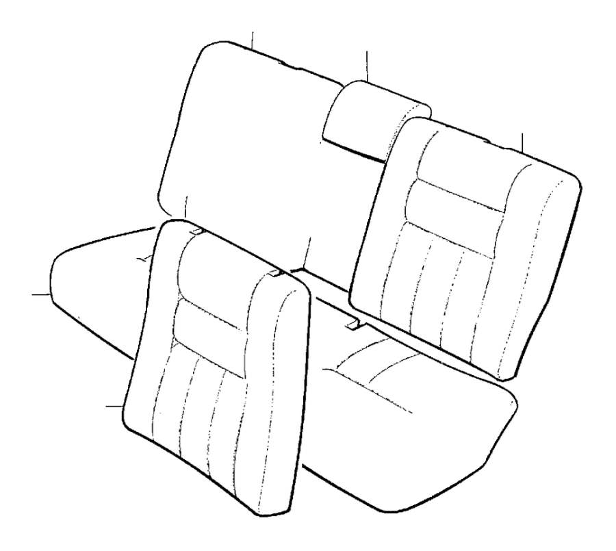 1998 Volvo V90 Interior Trim and Upholstery. 4DRS. CODE