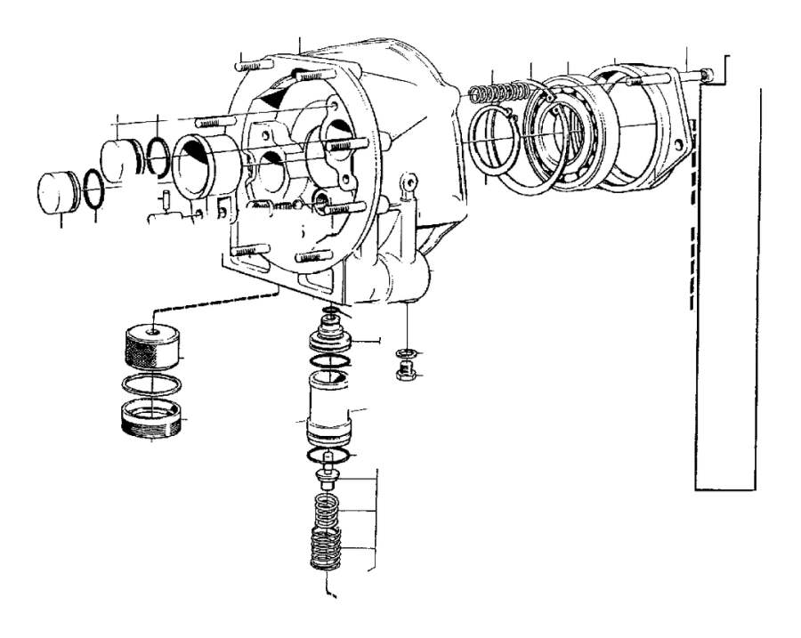 1992 Volvo 240 Bearing carrier. Shaft, Mounting, Propeller