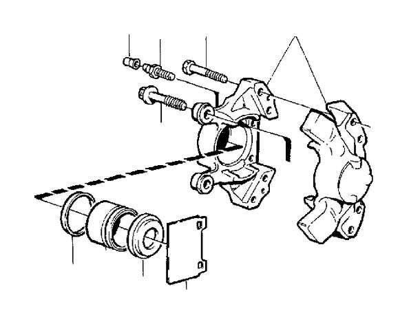 Volvo S70 Brake caliper, exch. Rear, Wheel, Calipers