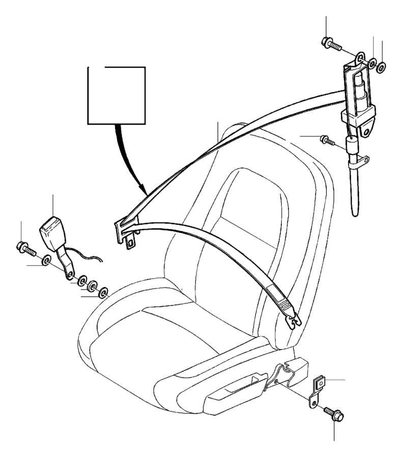2002 Volvo S60 Seat Belt Lap and Shoulder Belt Bracket