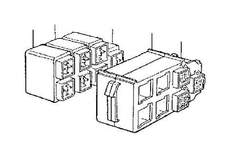 1998 Volvo V90 Relay. Cabin. Central Electrical Unit. Door