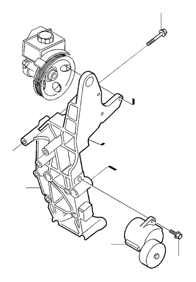 2005 Volvo V70 XC Bracket. Auxiliary aggregate Suspension