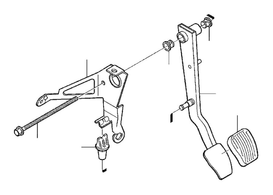 2000 Volvo V70 Clutch Pedal. Brake Pedal. Manual Gearbox