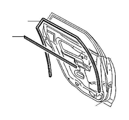 2001 Volvo S40 Door Window Belt Weatherstrip (Right
