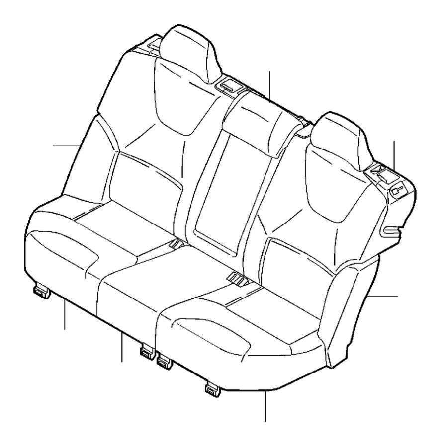 2005 Volvo V70 XC Upholstery Seat. Leather. Three