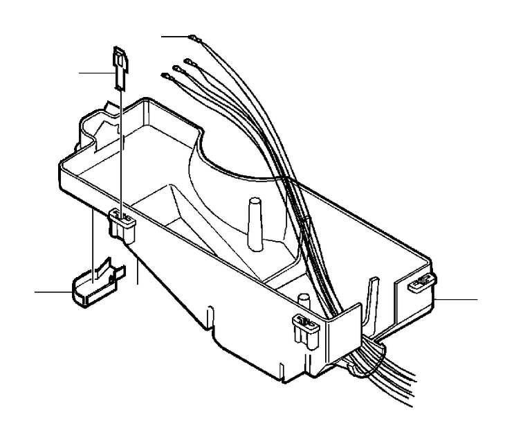 2005 Volvo V70 Fuse Box Cover Clip. A clip which helps
