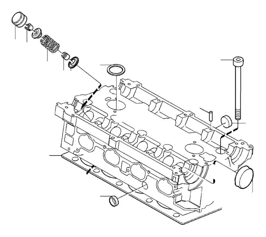 1996 Volvo 850 Engine Valve Spring Retainer. VALVE SPRING
