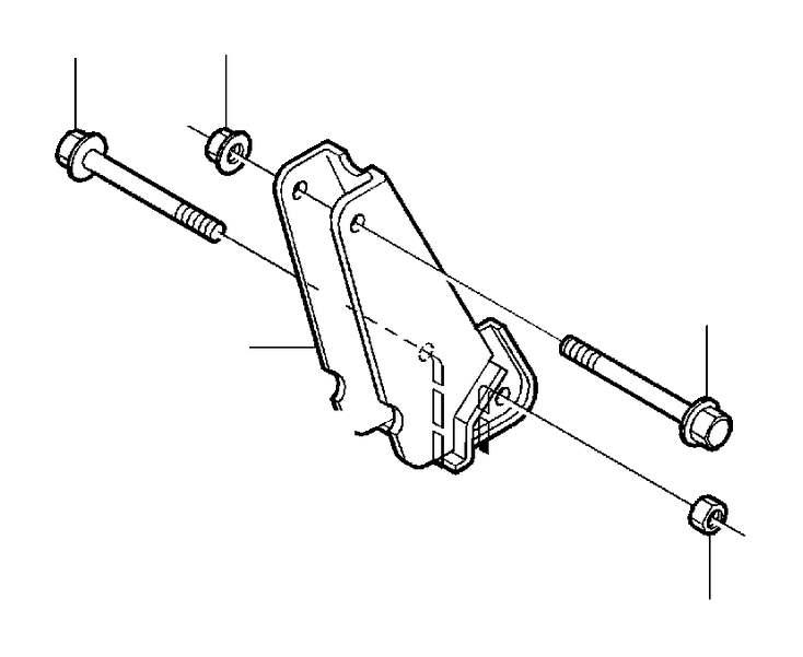 2001 Volvo S40 Flange nut. Adjustment, Subframe, Seat