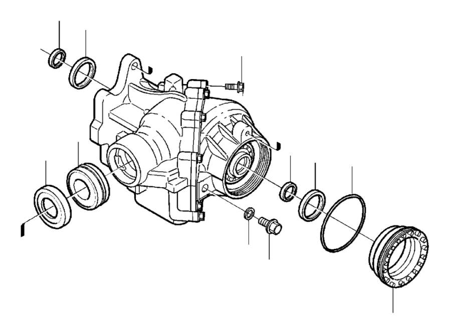 2002 Volvo V70 Adjusting nut. Angle, Gear, AWD