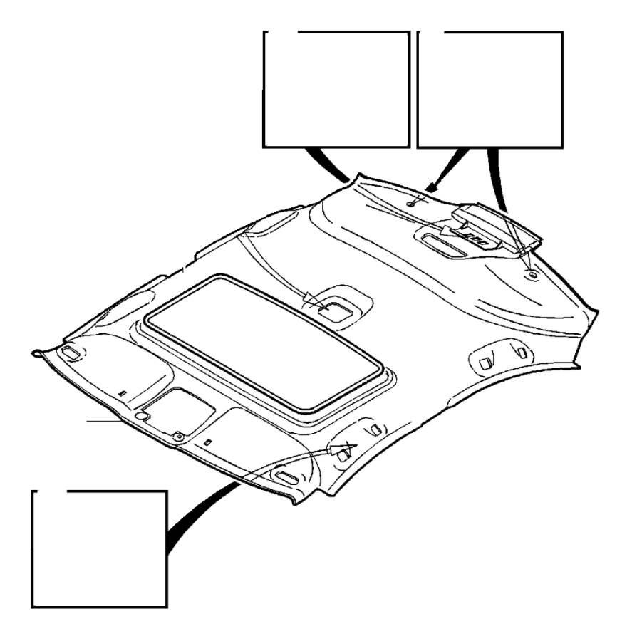 Volvo S60 Cover moulding. Cabin. Roof Liner. Side Panel