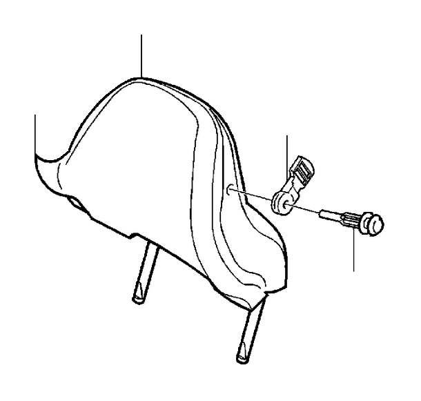 Volvo S60 Headrest Cover (Sand/Beige, Interior code: 845A