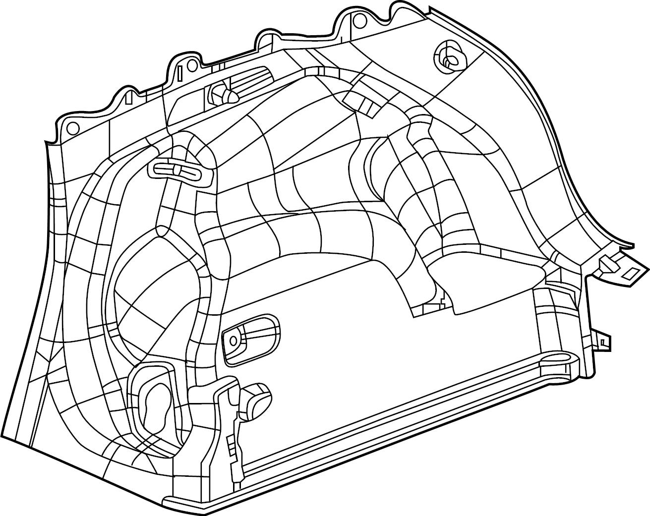 Volvo Xc90 Hatch Interior Panel Cargo
