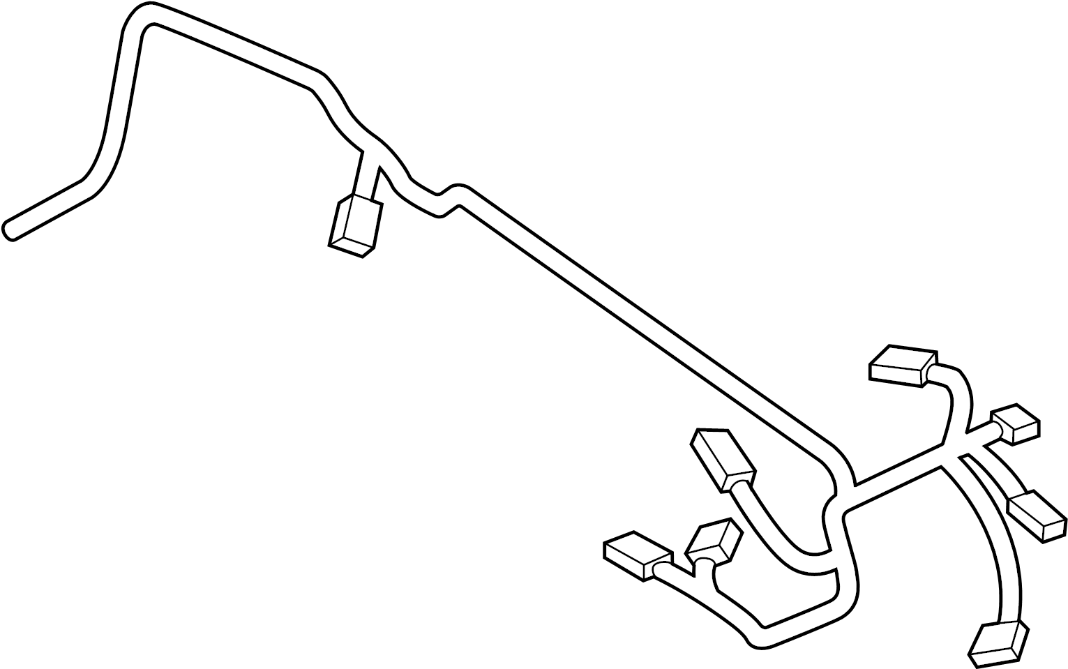 Volvo XC40 Engine Wiring Harness. Cable Harness Engine