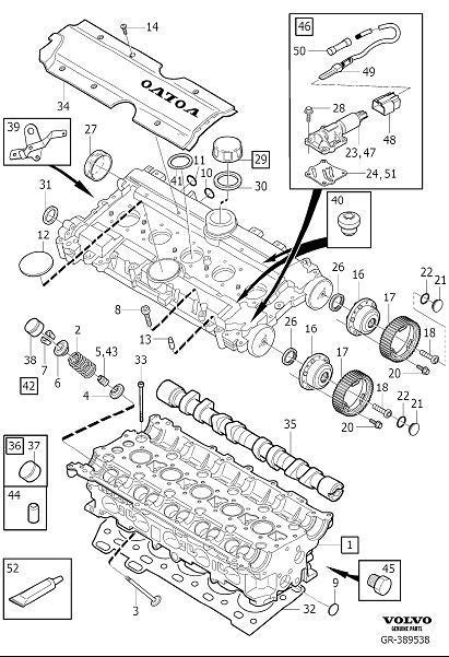 2005 Volvo S60 2.5l 5 cylinder Turbo Engine Camshaft Plug