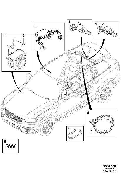 Volvo XC90 Movement Sensor. Alarm. Interior Motion Sensor