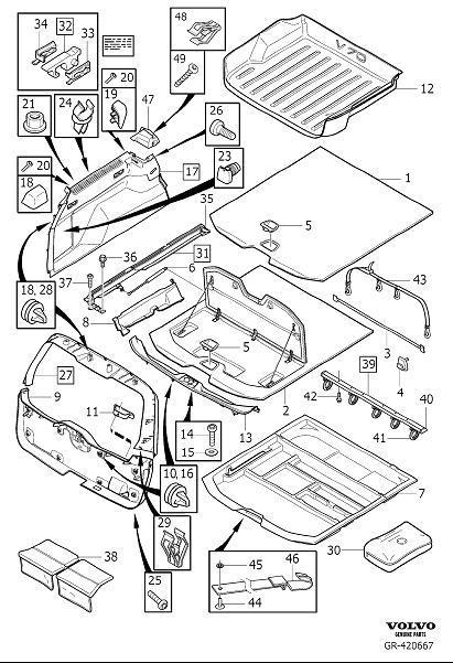 2009 Volvo Clip. Interior Trim Luggage Compartment. Body