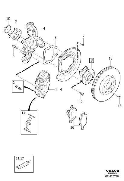 Volvo S60 Wheel Bearing and Hub (Rear). REAR WHEEL HUB