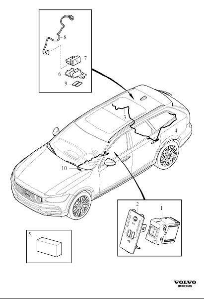 Volvo V90 Cross Country Wiring Harness. Accessory. AGU