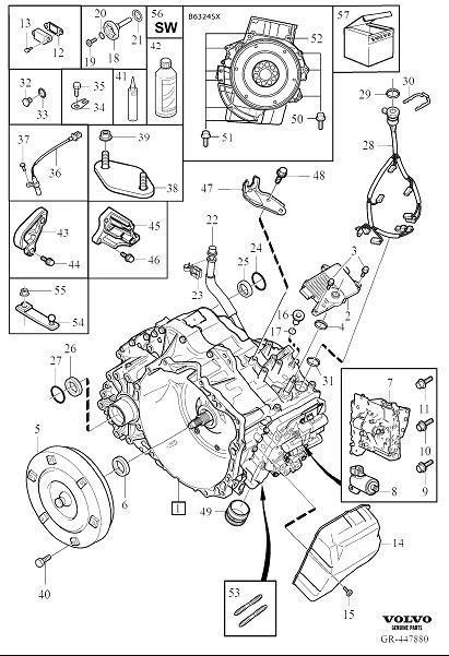 Volvo XC90 Piston kit. Automatic, Transmission, Gearbox