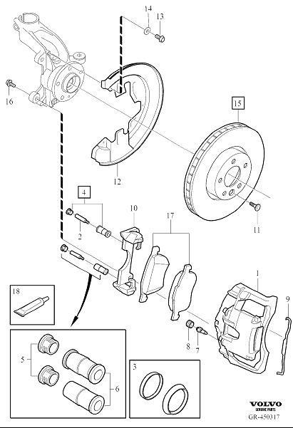2017 Volvo S60 Brake pad kit. Wheel, Front, Kits