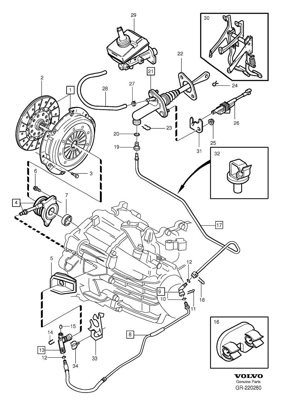 2008 Volvo V70 Clutch Starter Safety Switch. POSITION