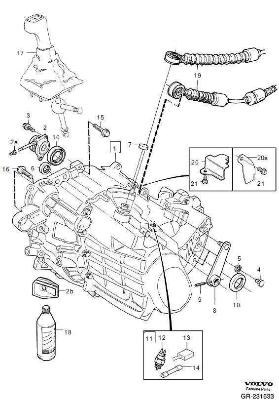 Volvo S40 Manual Transmission Input Shaft Seal. SEALING